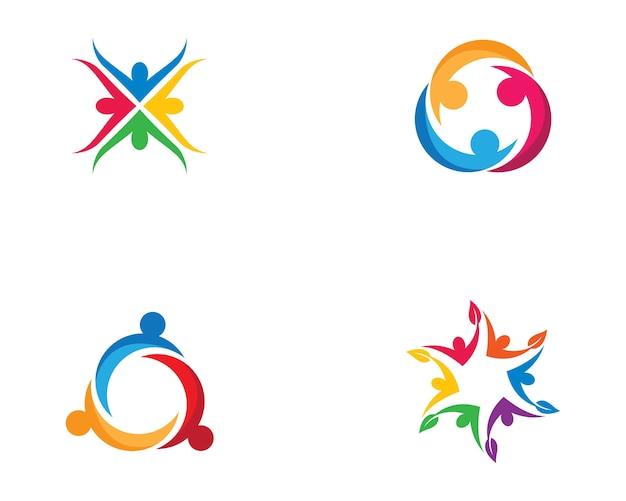 Gemeenschap zorg symbool illustratie Premium Vector