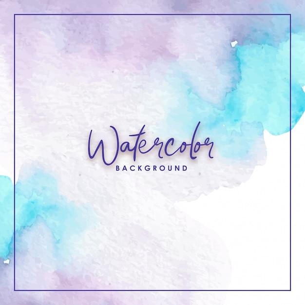 Gemengde kleuren blauw paars aquarel achtergrond Premium Vector