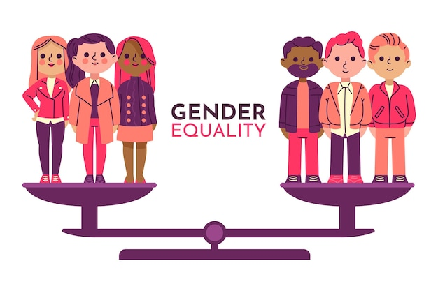Gendergelijkheid concept Premium Vector