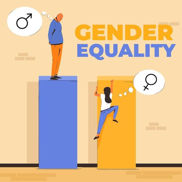 Gendergelijkheid concept Gratis Vector