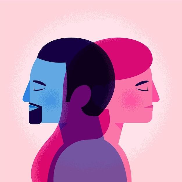 Genderidentiteit concept Gratis Vector