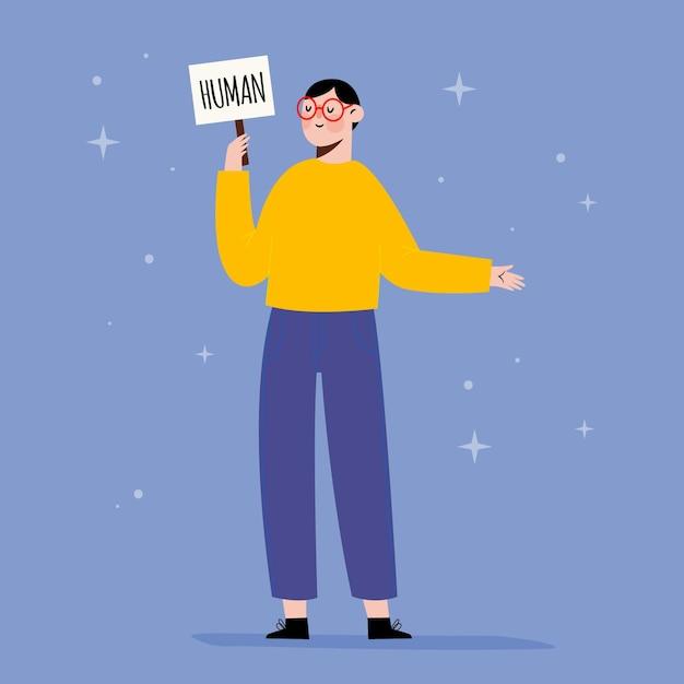 Genderneutrale beweging Gratis Vector