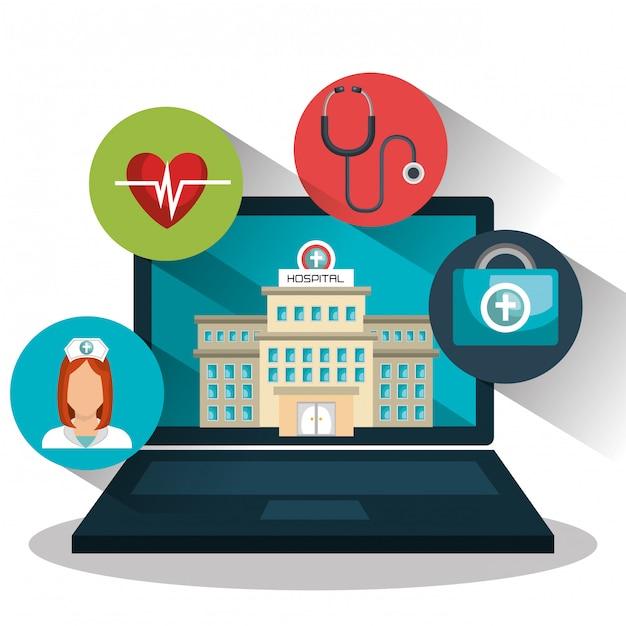 Geneeskunde online Gratis Vector