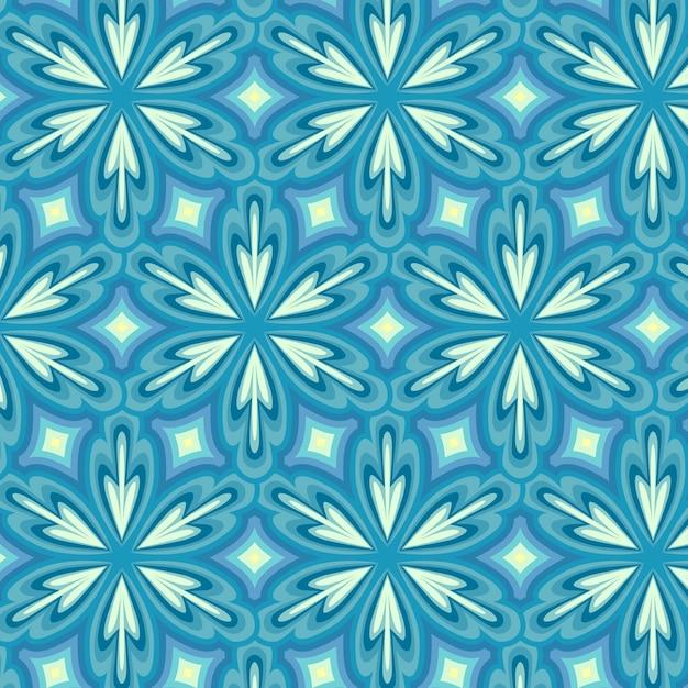 Geometrisch blauw hip patroon Premium Vector