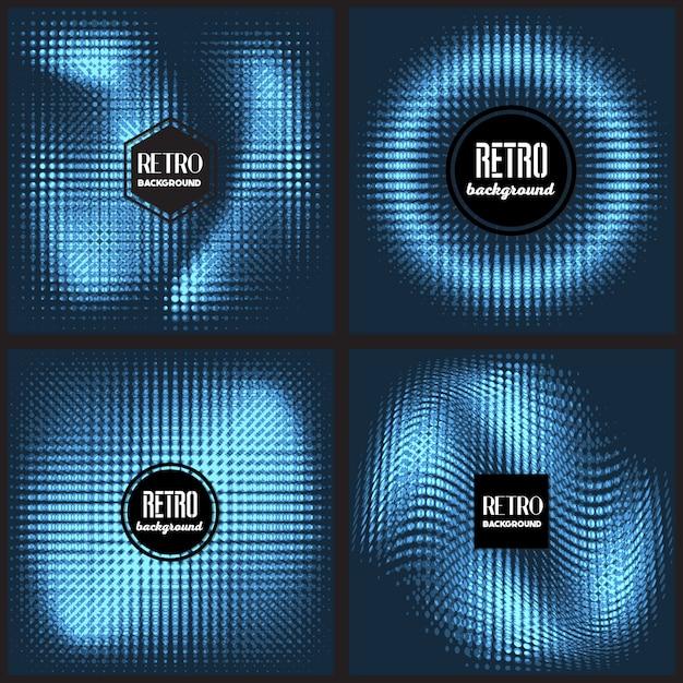 Geometrisch blauw ontwerp Gratis Vector