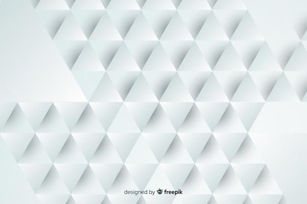 Geometrisch gevormde papieren achtergrond Gratis Vector
