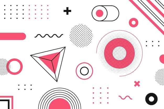 Geometrisch grafisch ontwerp als achtergrond Gratis Vector