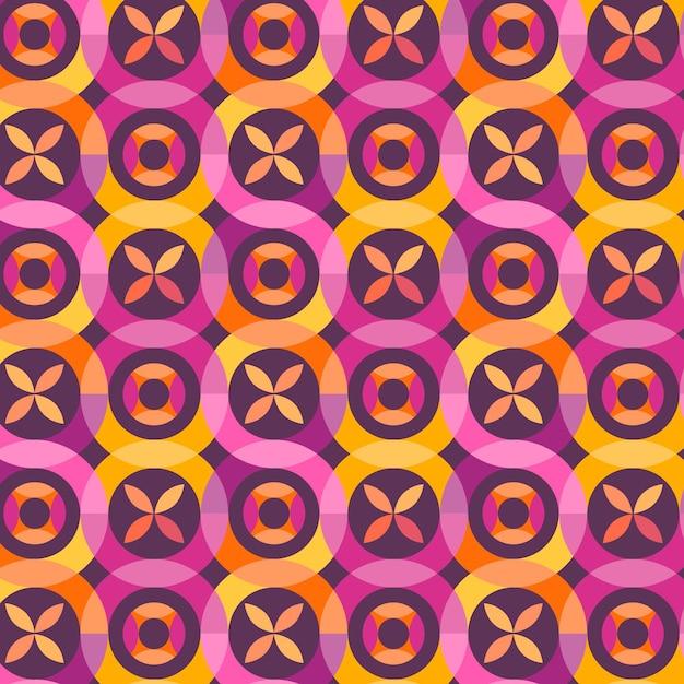 Geometrisch hip patroon Gratis Vector