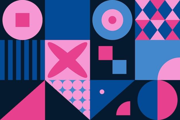 Geometrisch muurschildering behang Gratis Vector