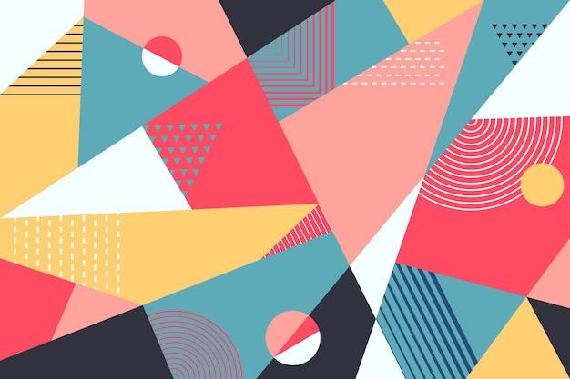 Geometrisch muurschildering behang Premium Vector