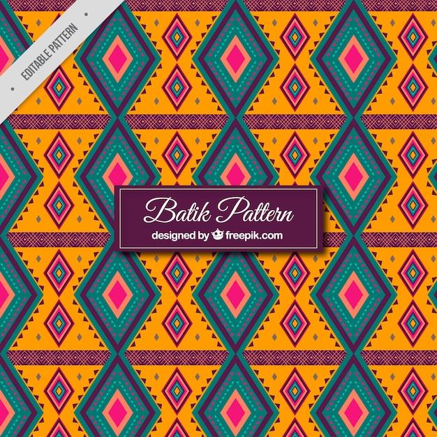 Geometrisch patroon van de batik Gratis Vector