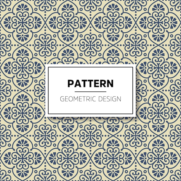 Geometrisch patroonontwerp Gratis Vector