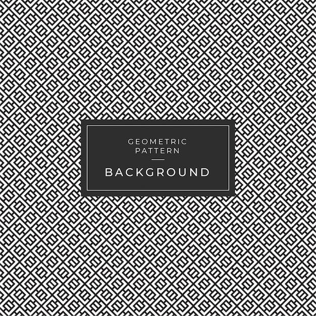 Geometrisch zwart-wit patroon Premium Vector
