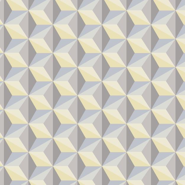 Geometrische abstracte achtergrond in grijze, blauwe en gele tonen Premium Vector