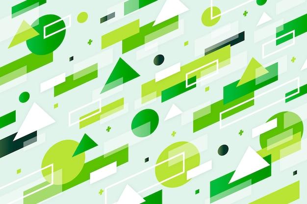 Geometrische abstracte groene achtergrond Gratis Vector