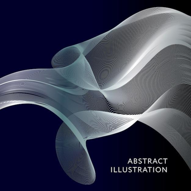 Geometrische abstracte illustratie achtergrond vector banner Premium Vector