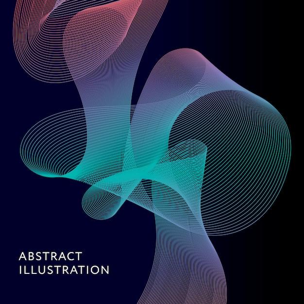 Geometrische abstracte illustratie achtergrond vectorvorm Premium Vector