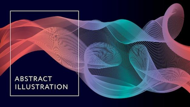Geometrische abstracte illustratie achtergrond vorm banner Premium Vector