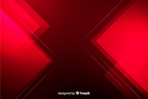 Geometrische abstracte rode lichtenachtergrond Gratis Vector