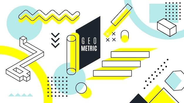 Geometrische achtergrond concept Gratis Vector