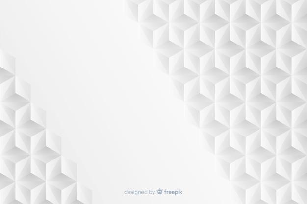 Geometrische achtergrond in papierstijl Gratis Vector