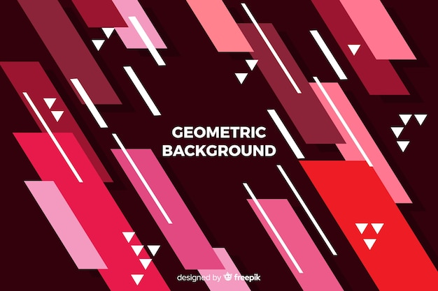 Geometrische achtergrond Gratis Vector