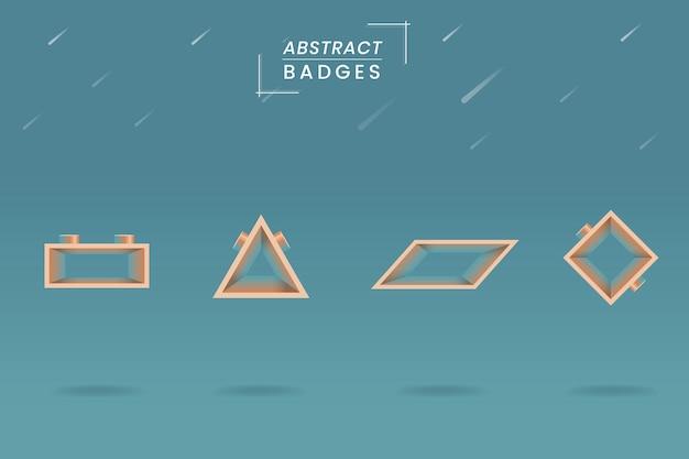 Geometrische badge set Gratis Vector