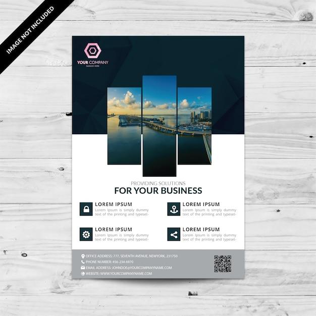 Geometrische business flyer Gratis Vector