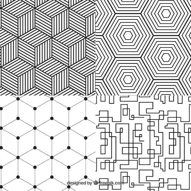 Geometrische Collection Pattern Premium Vector