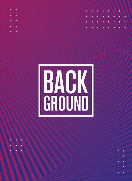 Geometrische figuren en lijnen paarse achtergrond Premium Vector