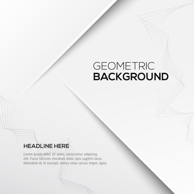Geometrische grijze achtergrond met tekstsjabloon Premium Vector