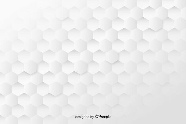 Geometrische honingraat vormen achtergrond in papier stijl Gratis Vector