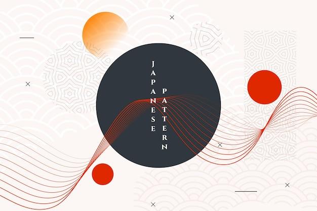 Geometrische japanse stijl abstract behang Gratis Vector