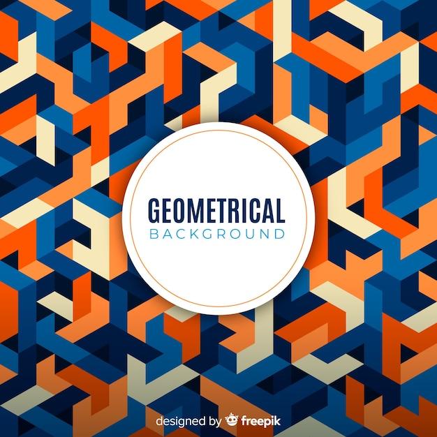Geometrische kleurrijke achtergrond Gratis Vector