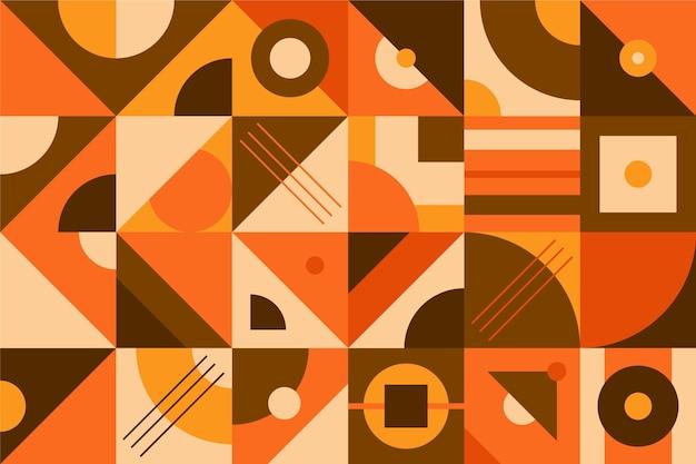 Geometrische muurschildering achtergrond Premium Vector