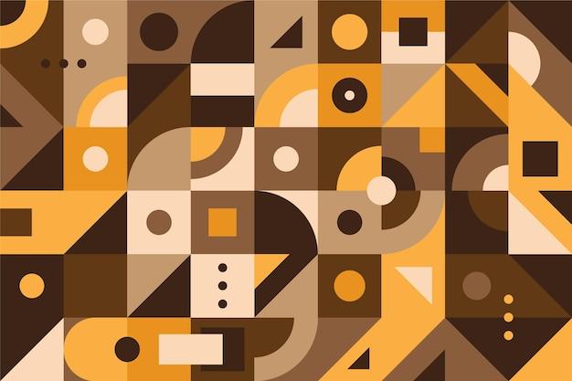 Geometrische muurschildering achtergrond Gratis Vector