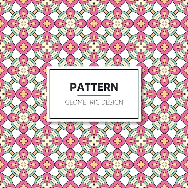 Geometrische naadloze patroon Gratis Vector