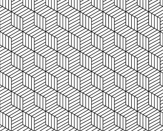 Geometrische patroon abstracte witte en zwarte toon vector achtergrond Premium Vector