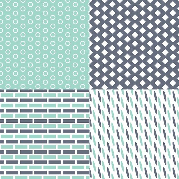 Geometrische patroon set Gratis Vector