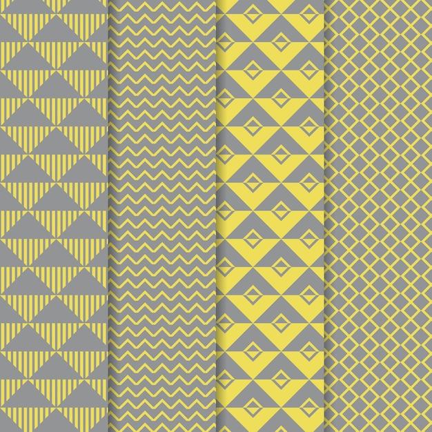 Geometrische patrooncollectie Gratis Vector