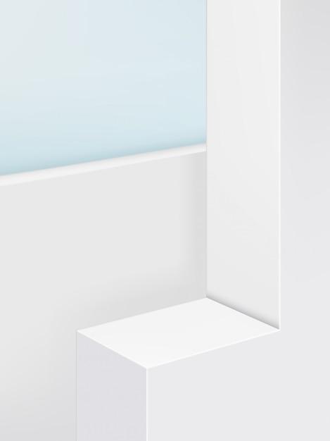 Geometrische platformproductschermachtergrond, pastelkleur. portret. Premium Vector