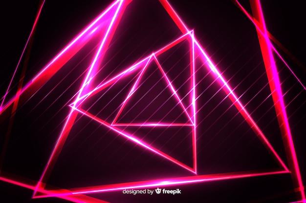 Geometrische rode lichtenachtergrond Gratis Vector