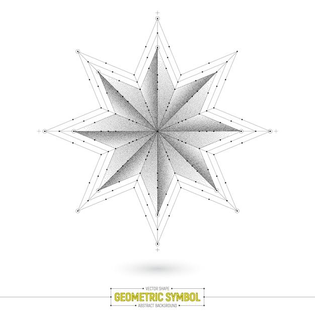 Geometrische ster symbool vectorillustratie Premium Vector