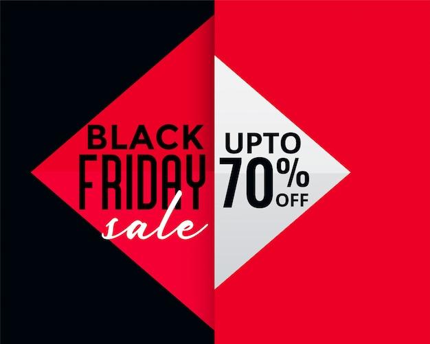 Geometrische stijl zwarte vrijdag creatieve verkoop banner Gratis Vector