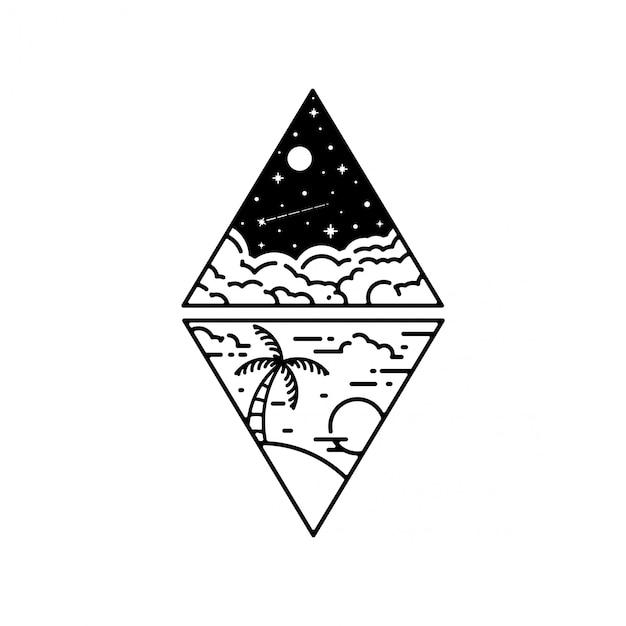 Geometrische tatoeage Premium Vector