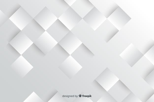 Geometrische vormen achtergrond papier gestileerd Gratis Vector