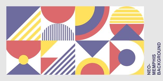 Geometrische vormen achtergrond Premium Vector