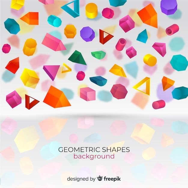 Geometrische vormen achtergrond Gratis Vector