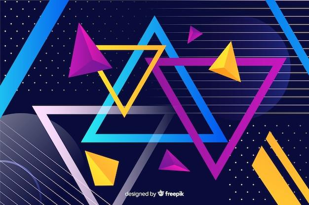 Geometrische vormen collectie achtergrond Gratis Vector