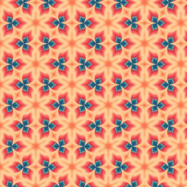 Geometrische vormen groovy patroon Premium Vector